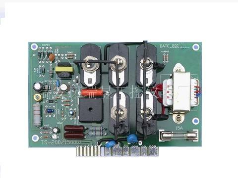 一,简介 ts-200/1500w直流电机调速板是一种采用可控硅触发电路实现